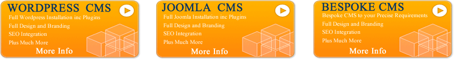 Content Management System Boxes and Banner